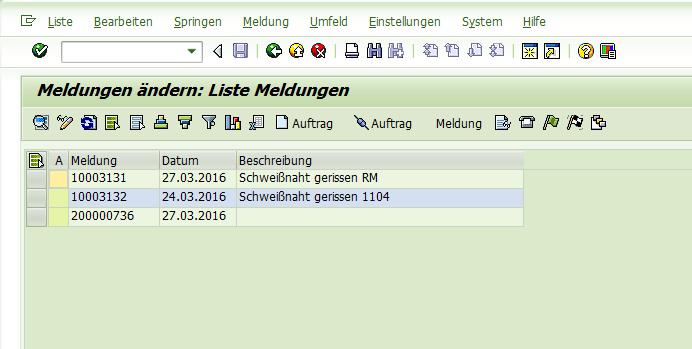 SAP Instandhaltung in der IW28