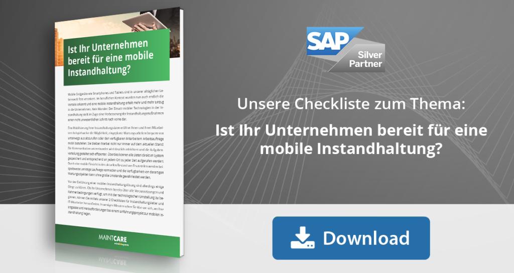 Checkliste mobile Instandhaltung