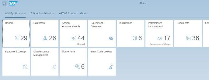 SAP AIN Launchpad