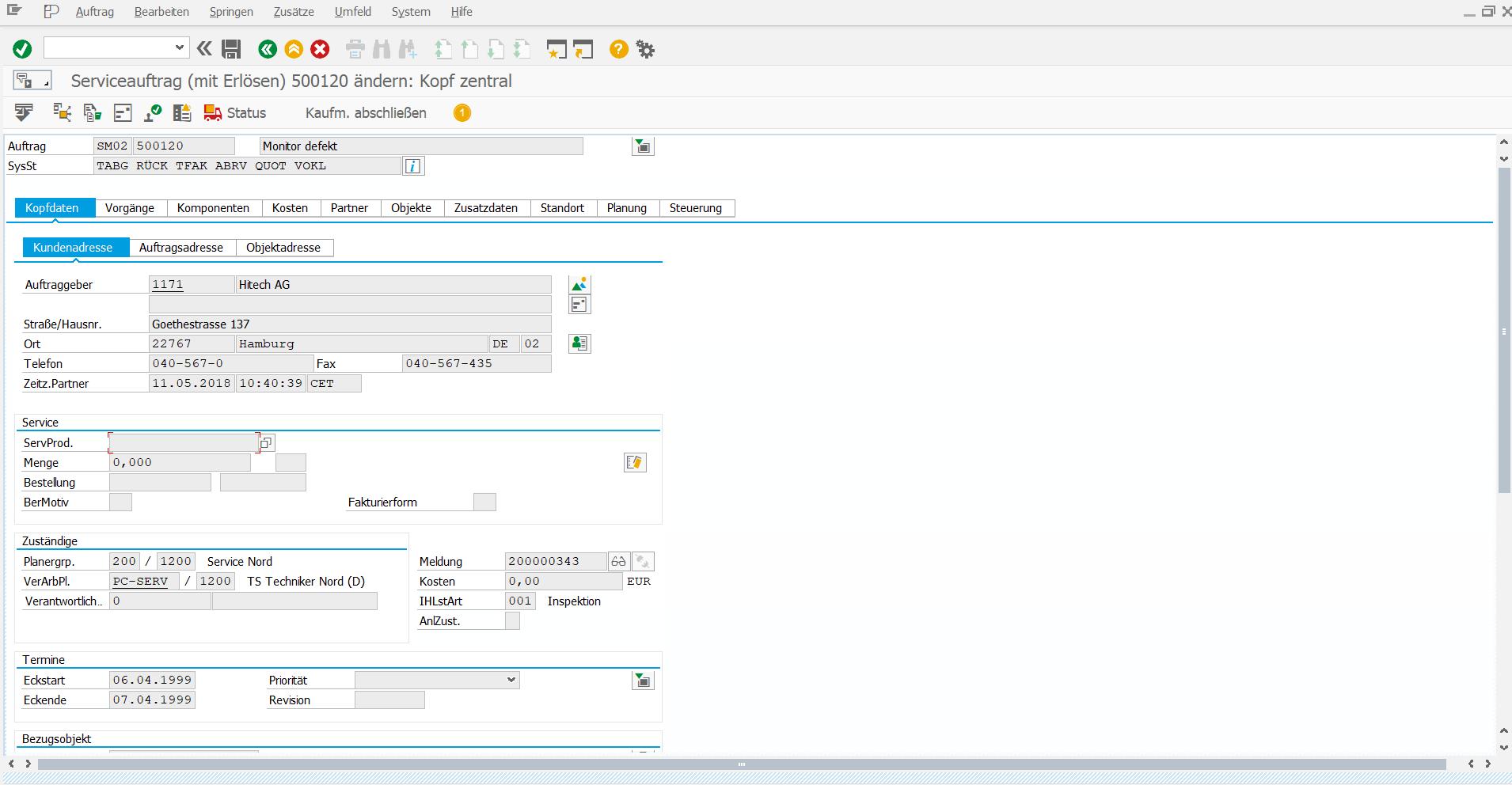 NWBC Sidepanel: IW32 - SAP GUI