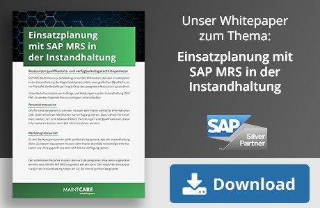 Einsatzplanung mit SAP MRS in der Instandhaltung