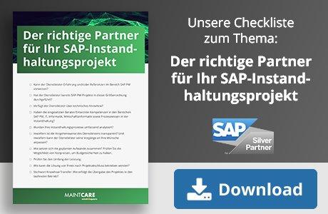 So finden Sie den richtigen Partner für Ihr SAP Instandhaltungsprojekt