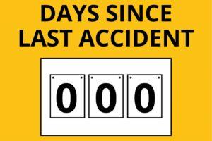 Tage seit dem letzten Unfall
