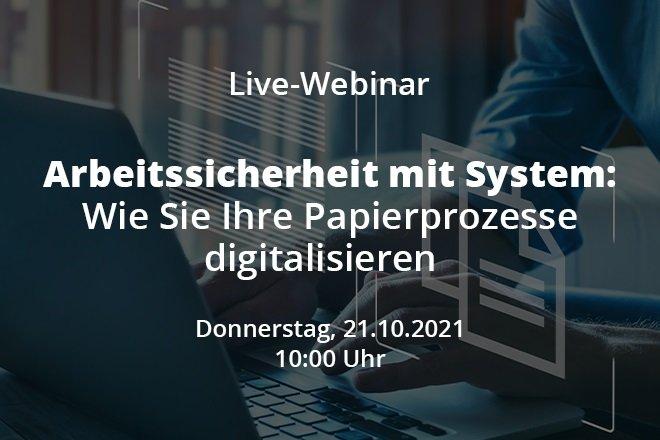 Live-Webinar: Arbeitssicherheit mit System