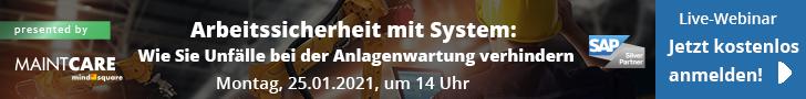 Arbeitssicherheit mit System-Webinar 25012021